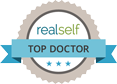 Real Self Top Doctor logo and link to Dr. Fitzgerald's profile on RealSelf